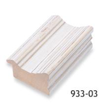 Rama alba de lemn pentru decoratiuni shabby chic la atelier inramari Arbex Art Decor
