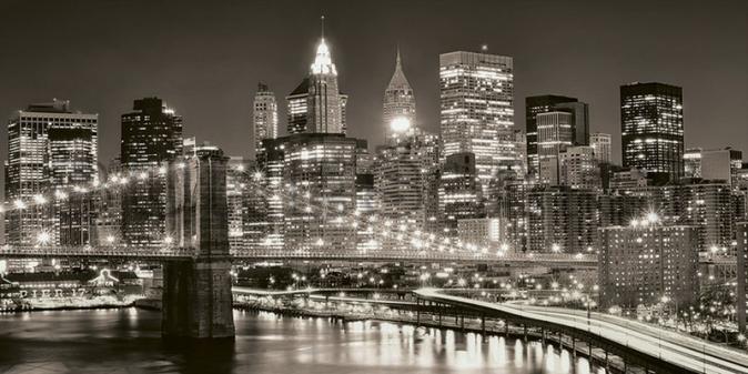 Tablou alb negru cu New York potrivit pentru un stil scandinav pe deco-perete.ro